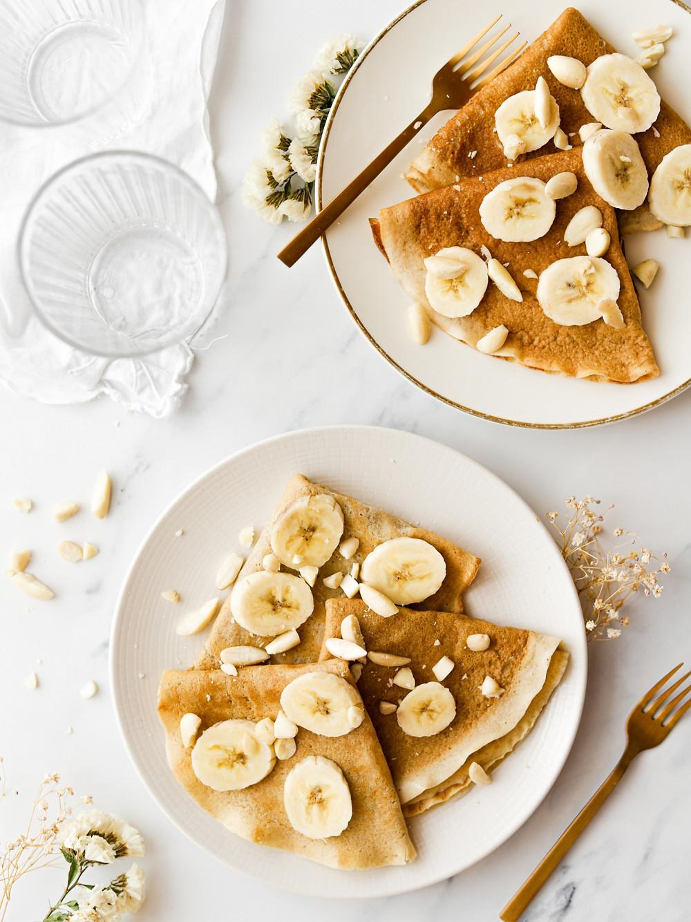Crepes de Banana e Aveia - Vegan e Sem Glúten