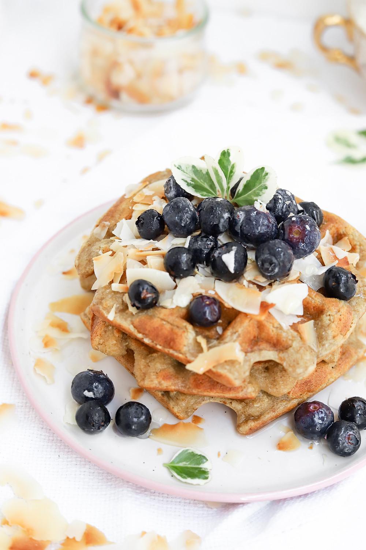 Waffles Vegans de Coco sem Glúten