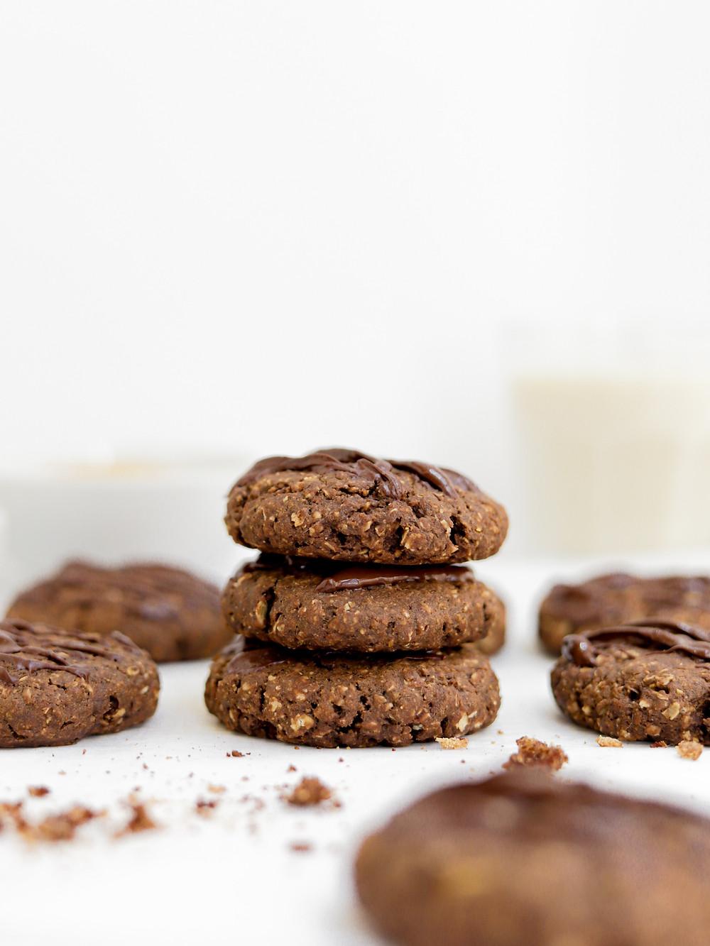 Bolachas Vegan de Chocolate, Aveia e Café