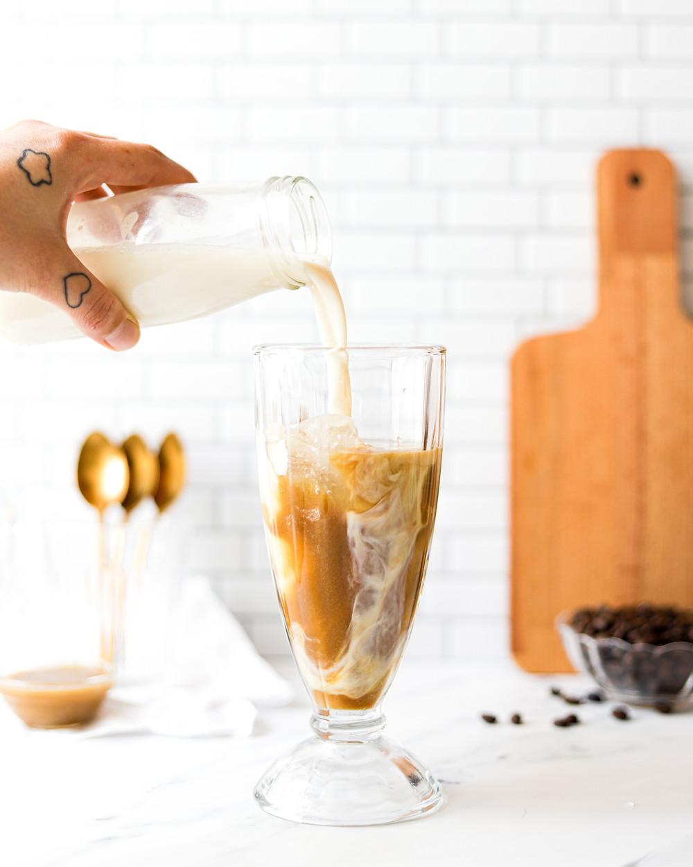 Iced Latte de Caramelo Vegan
