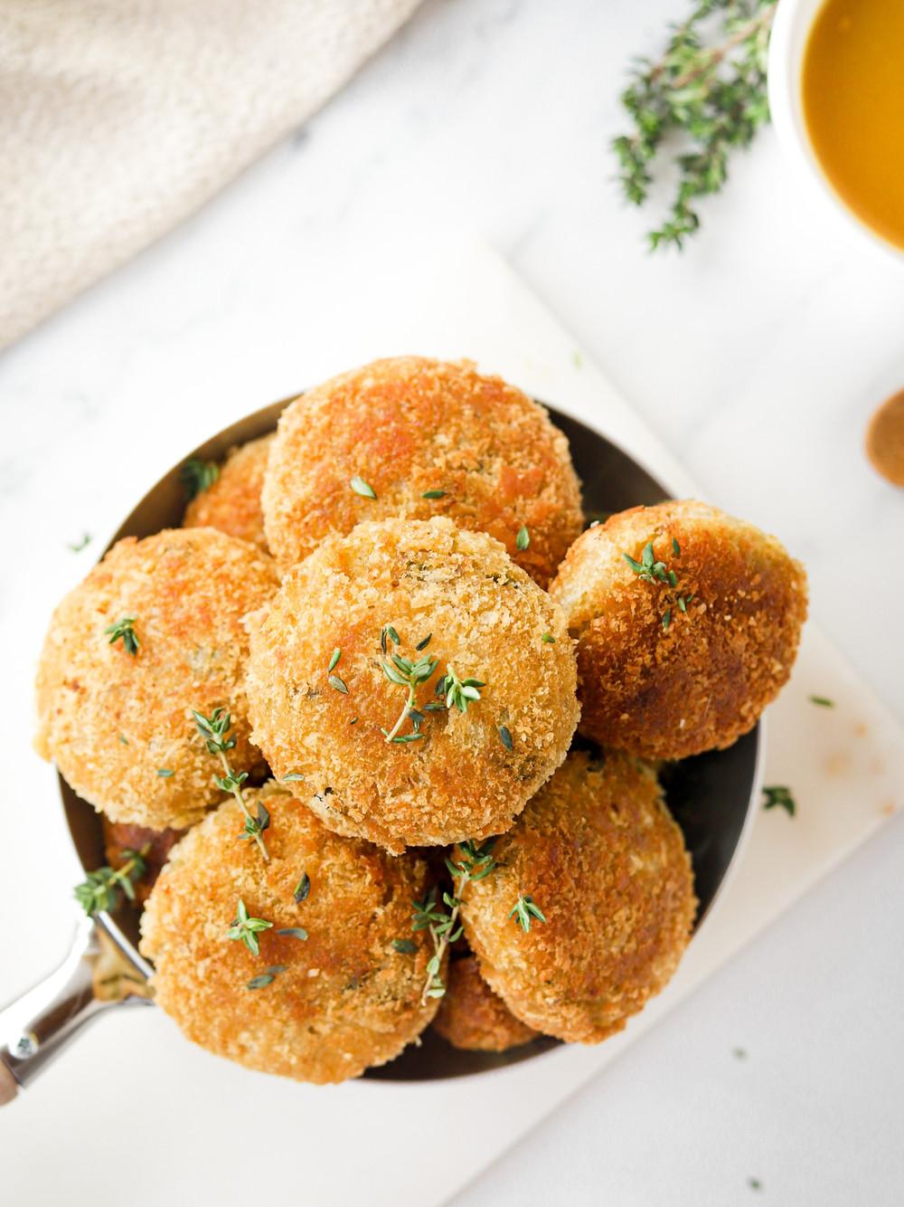 Croquetes Vegan de Batata e Pimentos Padron