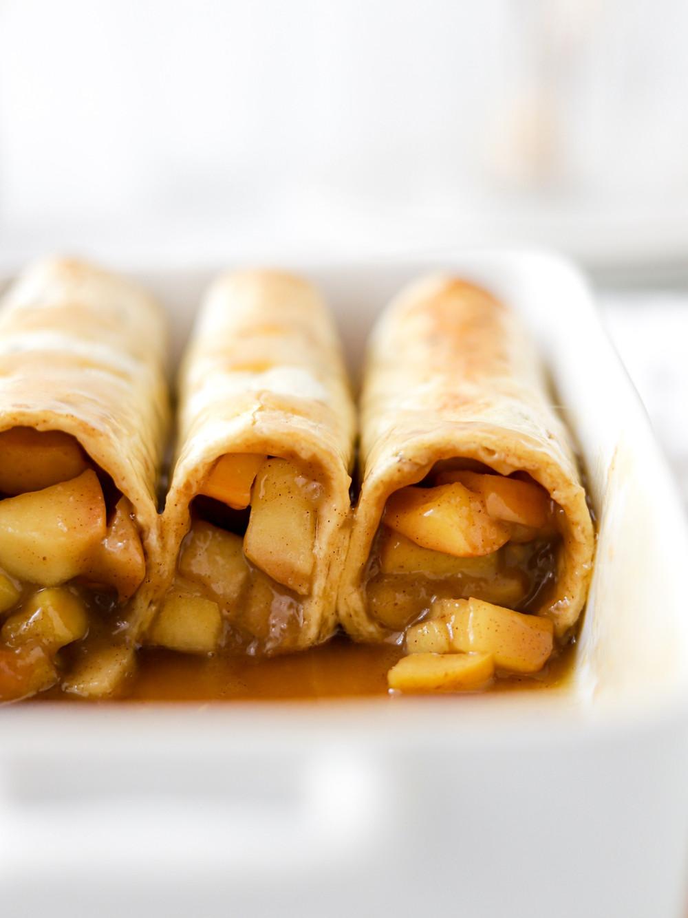 Enchiladas de Tarte de Maçã com Caramelo
