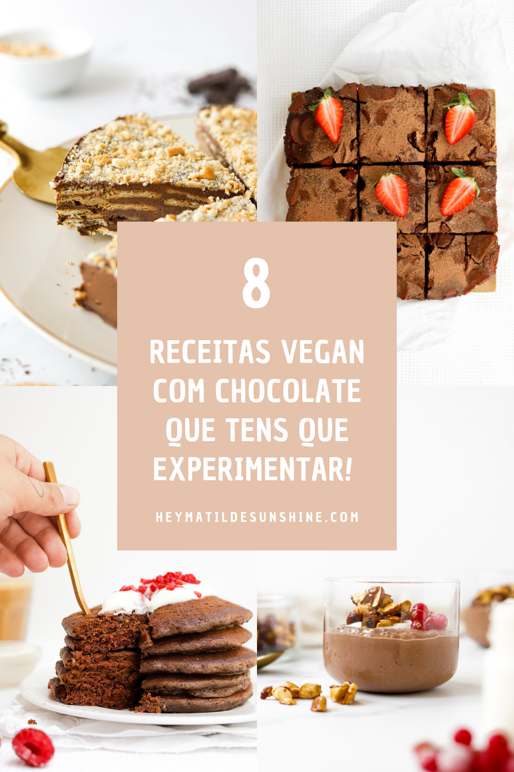 8 Receitas Vegan com Chocolate