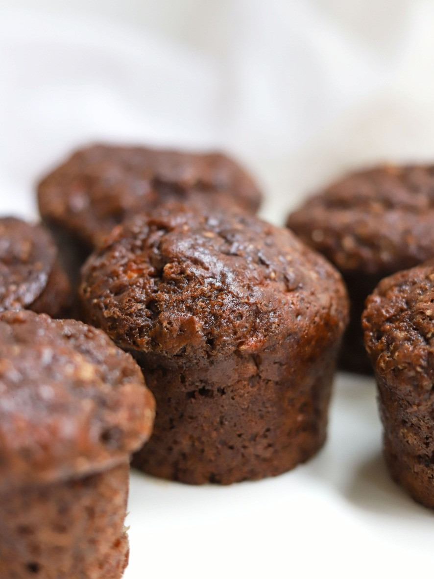 Muffins Vegan de Banana e Chocolate