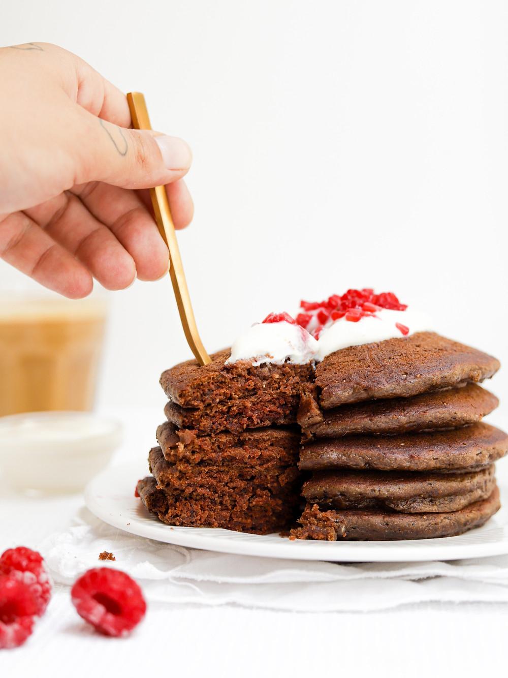 Panquecas Vegan de Chocolate sem Glúten