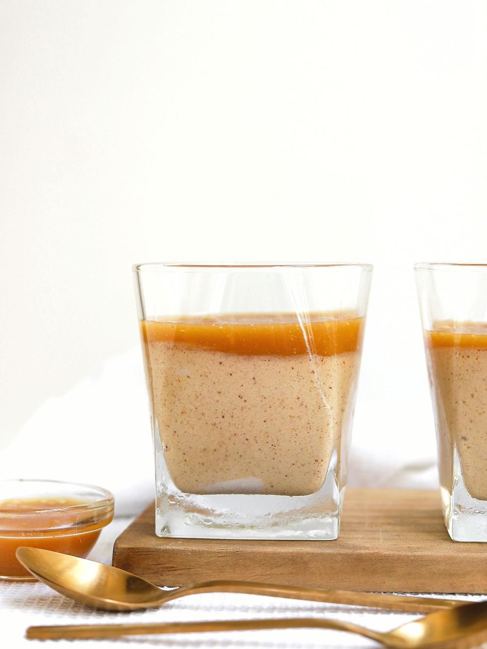 Mousse Vegan de Manteiga de Amendoim e Leite Condensado - 3 ingredientes!