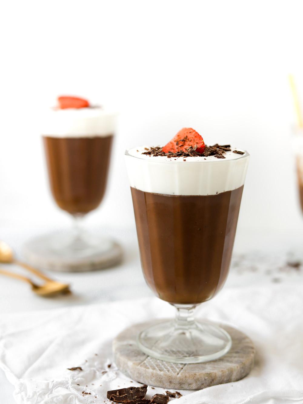 Pudim de Chocolate Vegan