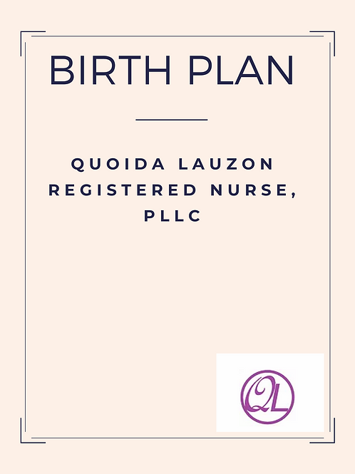 Birth Plan Template and Checklist