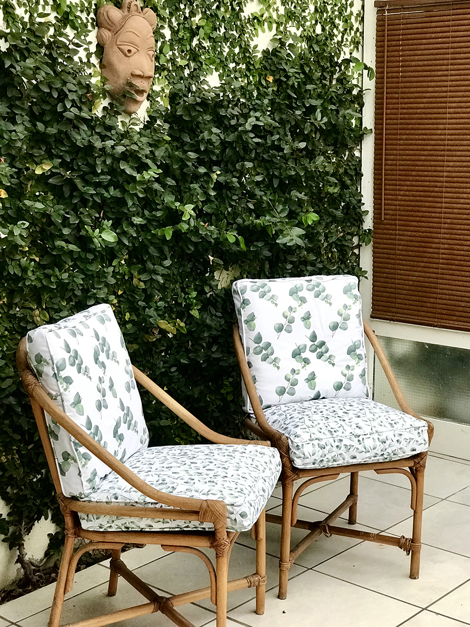 chairs in courtyard