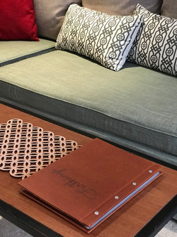 Information folder on coffee table