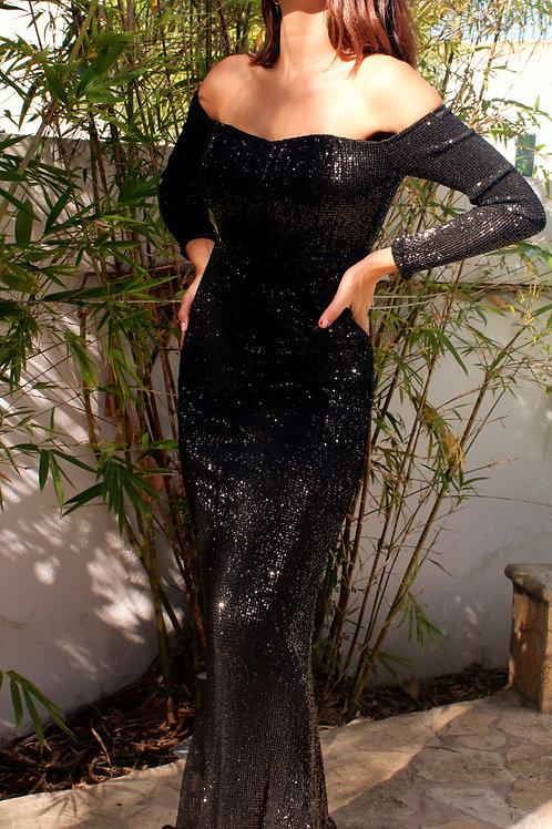sequins formal dress