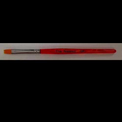 Orange Gel Brush #6 Flat
