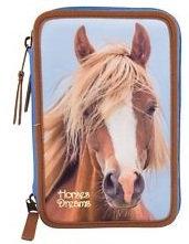 Horses Pencil Case Triple #1