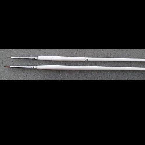 Nail-Art Brush Single (White Handle)