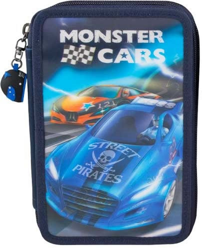 Monster Cars Pencil Case Triple 3D