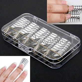 Re-usable extension nail forms
