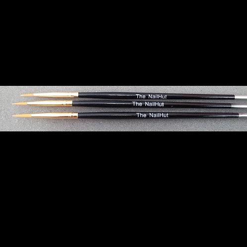 Nail-Art Brush Set Black Long