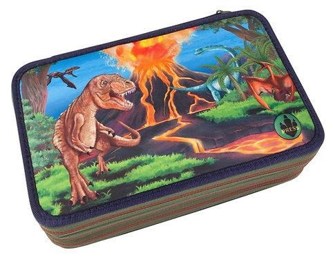 Dino Pencil Case Triple + LED #1