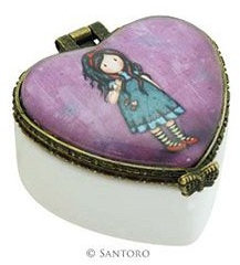 Heart Ceramic Trinket Box Small