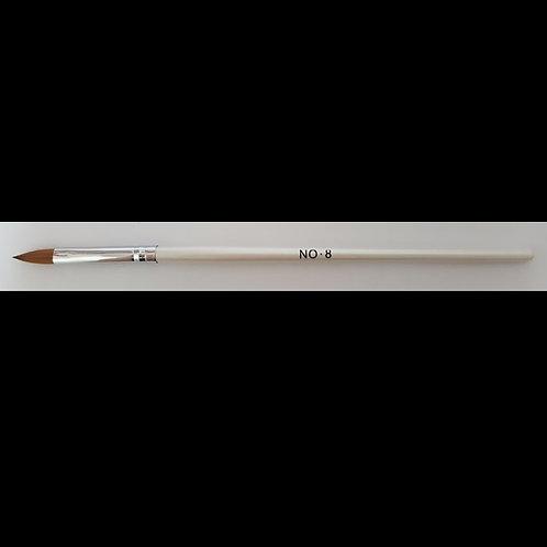 Acrylic Brush White #8 Flat