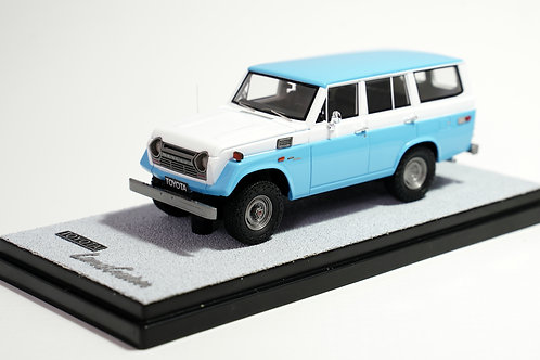 TOYOTA LAND CRUISER FJ55 1974 BLEU - BLANC / BLUE - WHITE