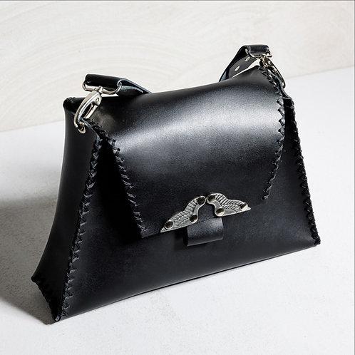 """Wings"" black shoulder bag"
