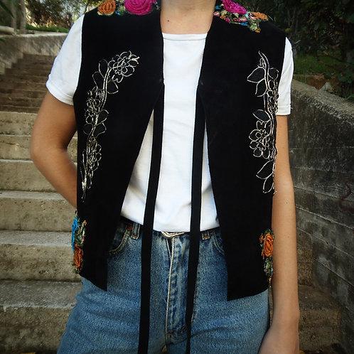 """Dark paradise"" leather vest"