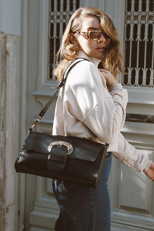 """""""Obsession"""" black shoulder bag"""