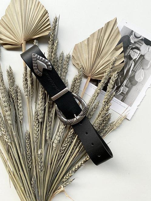 """""""Loveshine"""" leather belt"""