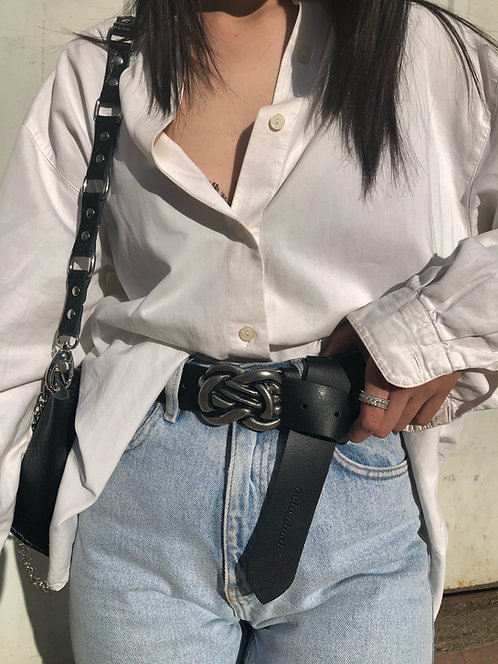 """""""Human touch"""" leather belt"""