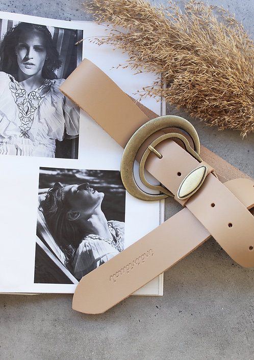 """Good vibrations"" leather belt"