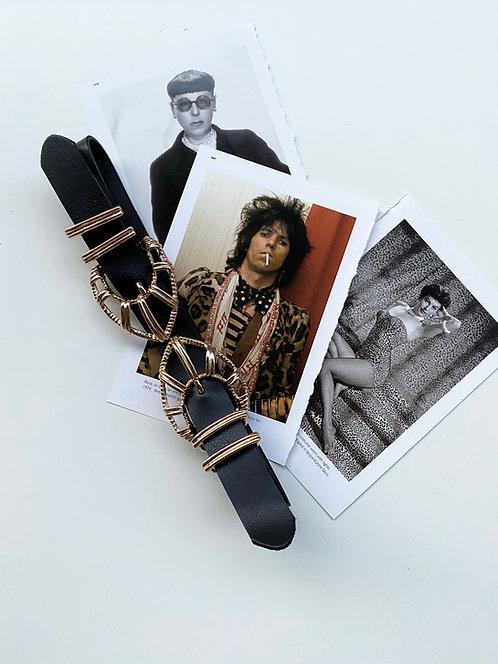 """Fire double"" leather belt"
