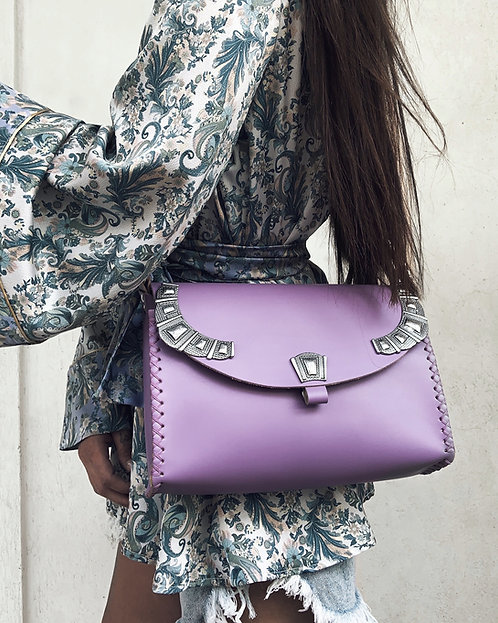 """Serenade"" lilac shoulder bag"
