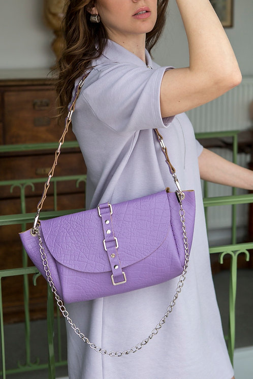 """""""The time is now"""" shoulder bag in colors"""