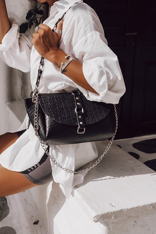 """""""The time is now"""" shoulder bag"""