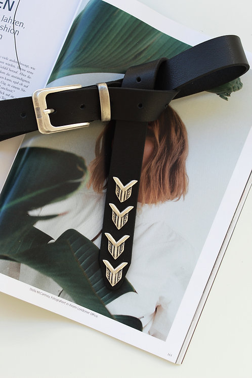 """Paranoid"" leather belt"