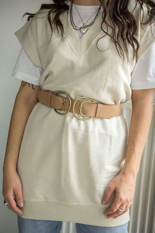 """""""Adore double"""" leather belt"""