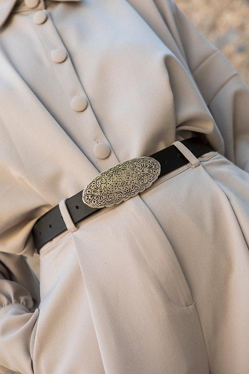 """Air dance"" leather belt"