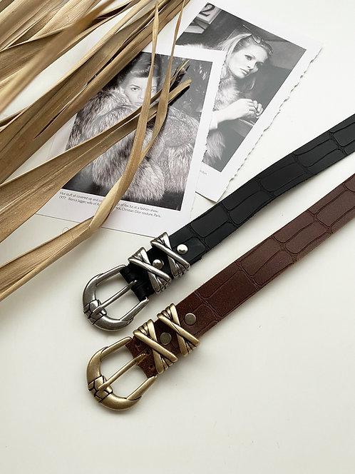 """""""Sinnerman"""" leather belt"""