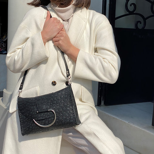 """Senorita"" croc printed shoulder/clutch bag"
