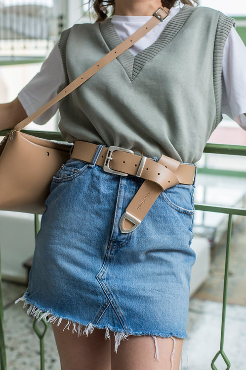 """Free bird"" leather belt"