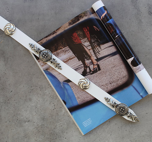 """""""Wild is the wind"""" leather belt"""