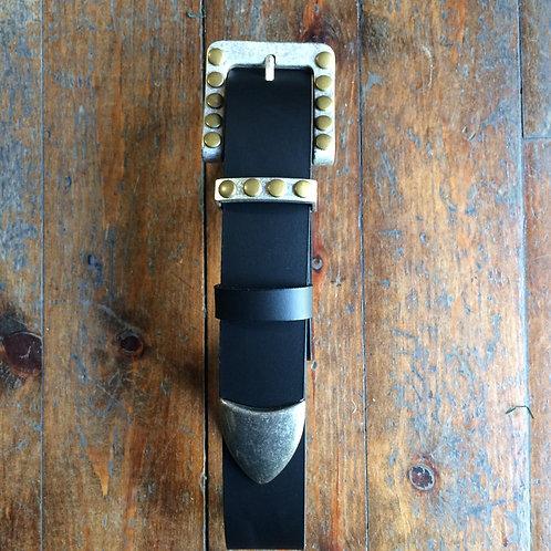 """Holes"" leather belt"