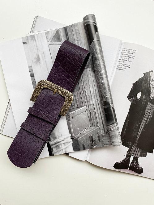 """Patience"" leather belt"
