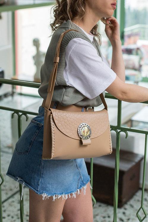 """Precious"" shoulder bag beige version"