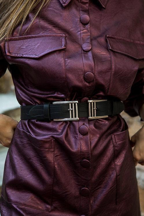 """""""Billie Jean double"""" leather belt"""