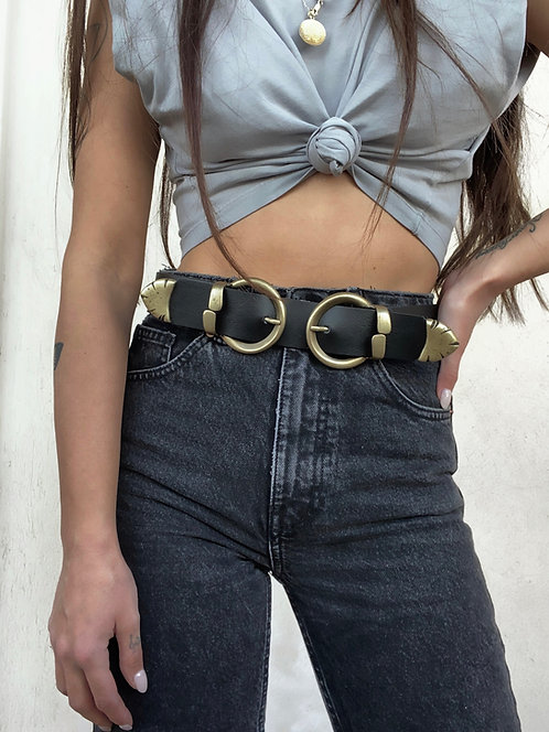 """Kiss"" leather belt"