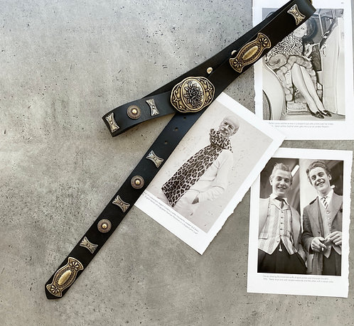 """""""Welcome to the jungle"""" leather belt"""