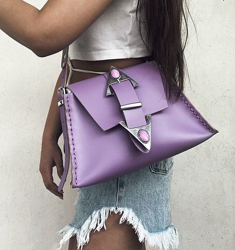 """Dance monkey"" lilac shoulder bag"