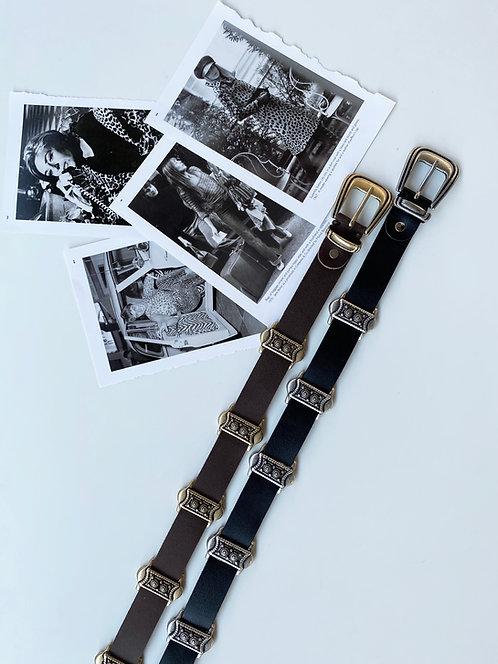 """Promenade"" leather belt"